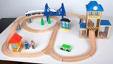 Drewniana kolejka City Train