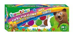 Farby plakatowe BAMBINO 24 kolory (10 ml)