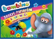 Zeszyt papierów kolorowych samoprzylepnych B4, BAMBINO, 8 kartek