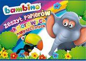 Zeszyt papierów kolorowych nabłyszczanych A4, BAMBINO, 10 kartek