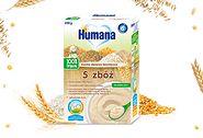 Humana Kaszka mleczna 5 zbóż z bananami dla niemowląt po 6. miesiącu (200 g)