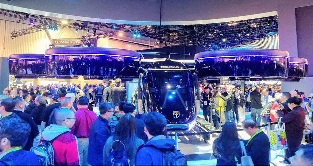 Ten olbrzym z czterema silnikami to autonomiczna taksówka firmy Bell. Bez pilota, za to z pasażerami. Póki co w fazie prototypowej