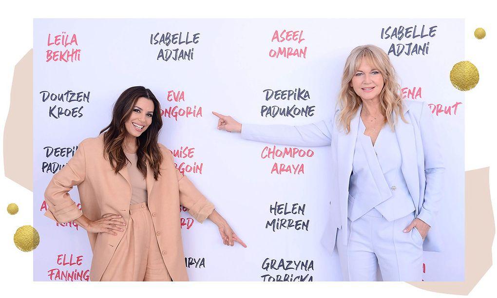 Eva Longoria oraz Grażyna Torbicka podczas Festiwalu Filmowego w Cannes 2019