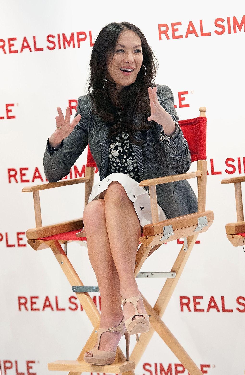 Amy Chua podczas promocji swojej książki
