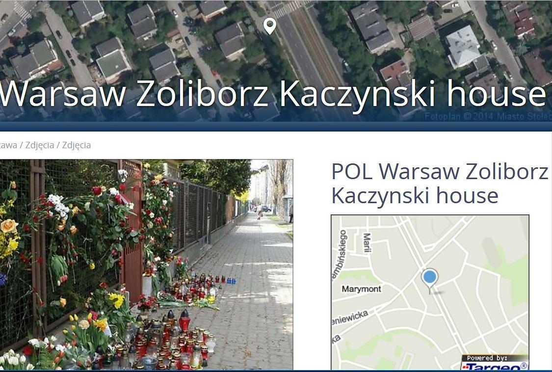 """Kaczyński house"""" już oficjalnie na mapie nawigacji Targeo - WP Wiadomości"""