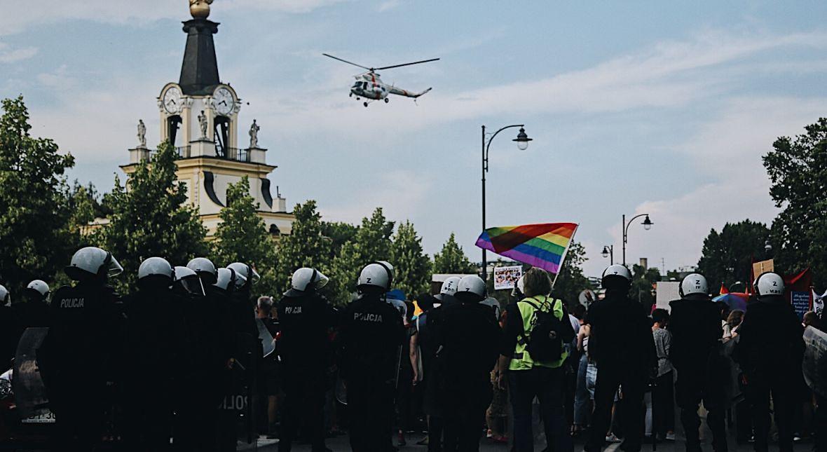 Helikopter nad Marszem Równości. 20 lipca 2019 roku