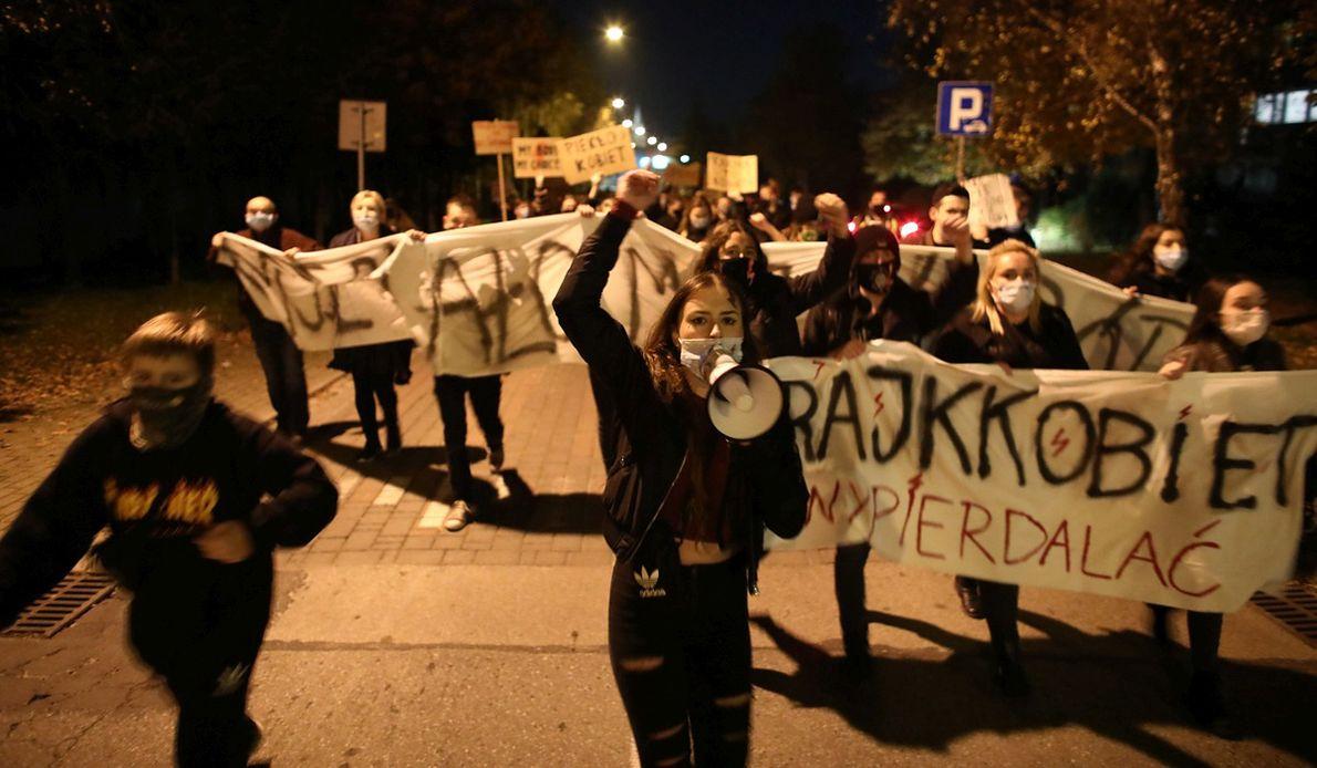 Strajk kobiet w Dobczycach