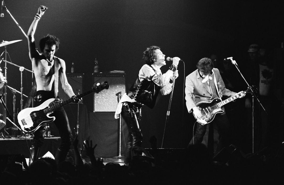 Sex Pistols podczas koncertu w San Francisco, 1978 r.