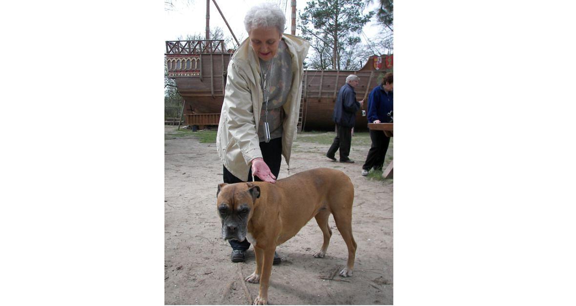 Mama z naszym psem