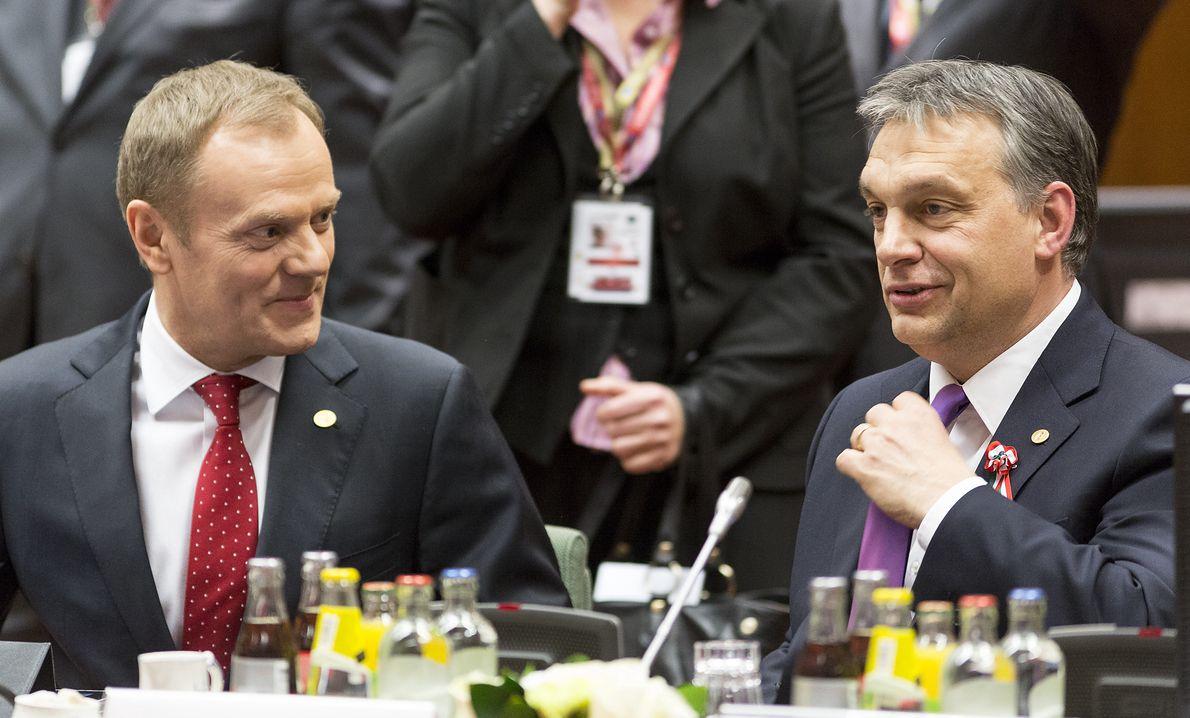 Donald Tusk i Viktor Orbán