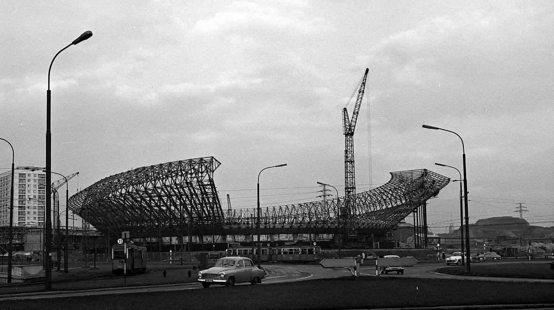 Budowa Spodka, rok 1967