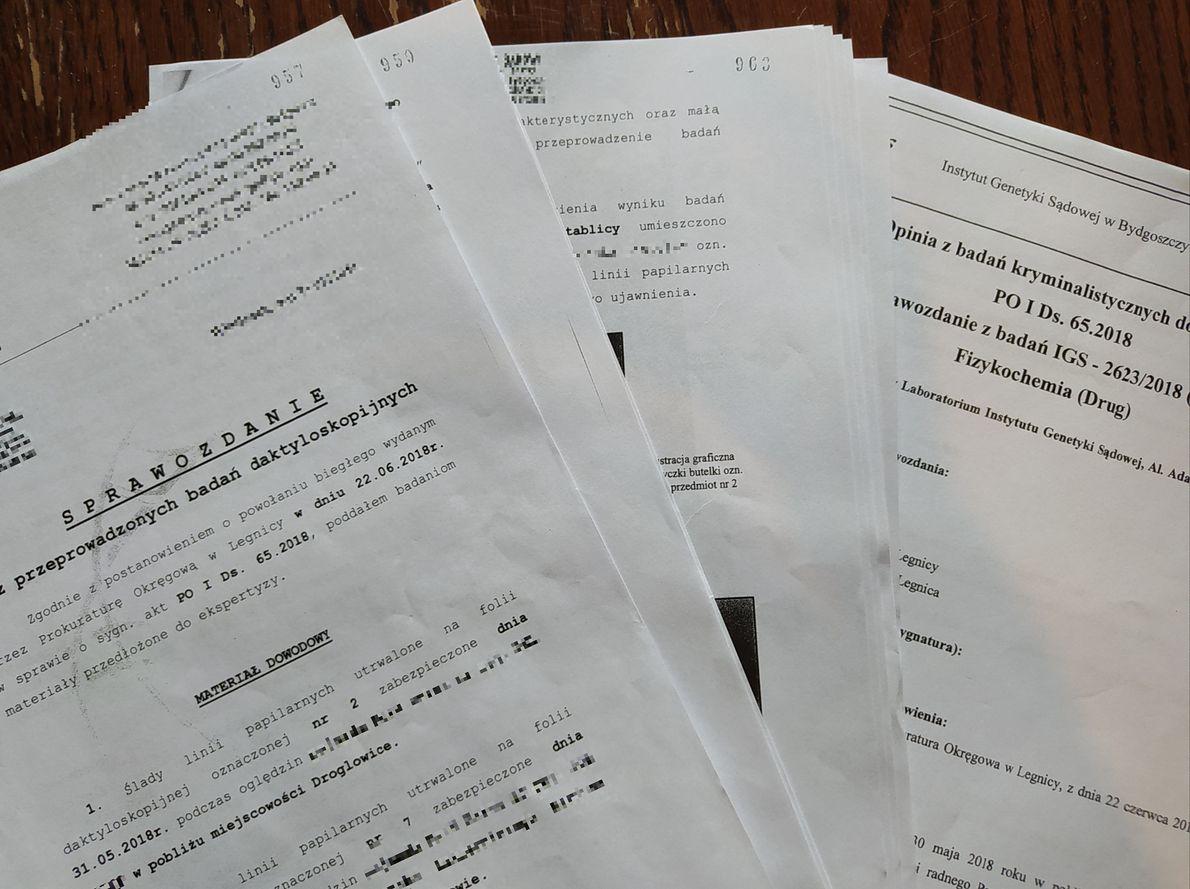 Fragmenty eksperckich opinii, do których dotarło troje reporterów badających sprawę śmierci Pawła Chruszcza