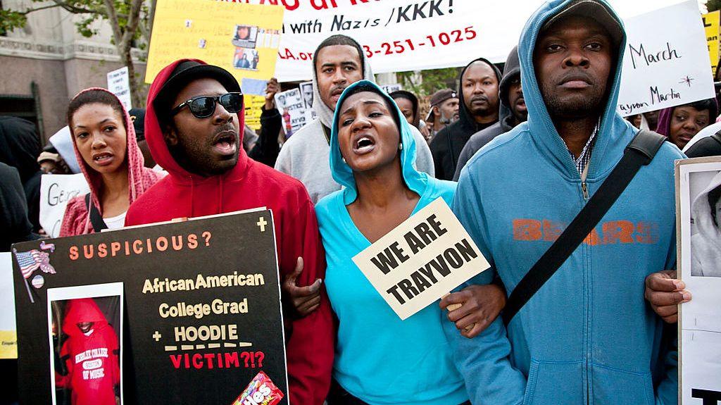 Marzec 2012, Los Angeles. Marsz Miliona Bluz z Kapturem w hołdzie Trayvona Martina