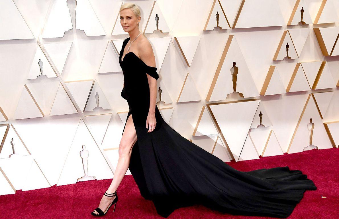 Charlize Theron na ceremonii rozdania Oscarów, luty 2020