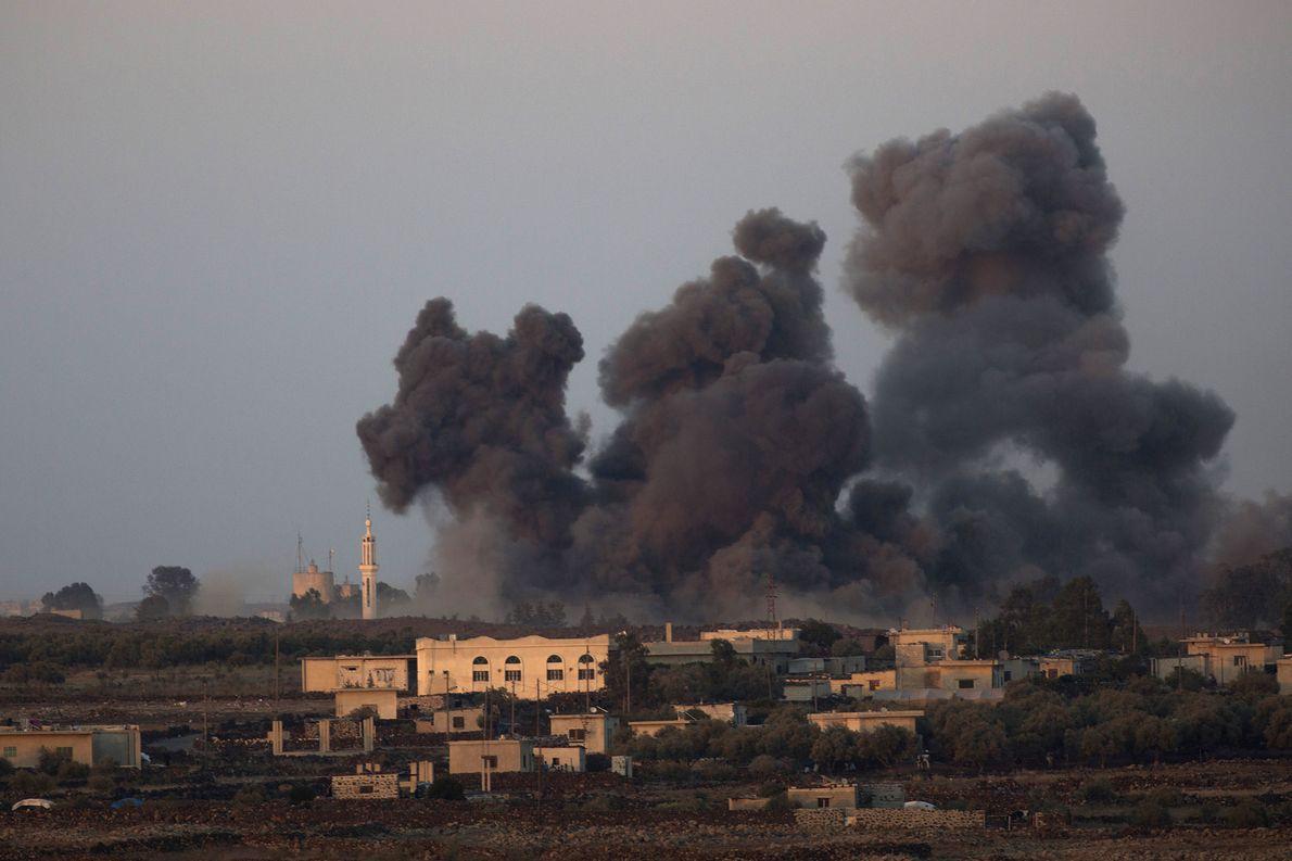 Izraelski ostrzał celów w Syrii