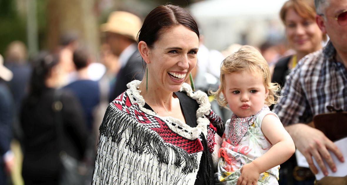 Jacinda Ardern ze swoją córką, Neve Gayford