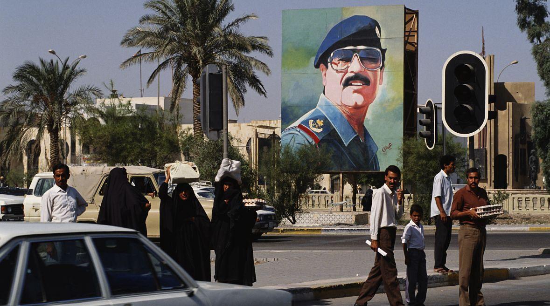 Ulica w Bagdadzie. Irak, rok 1989