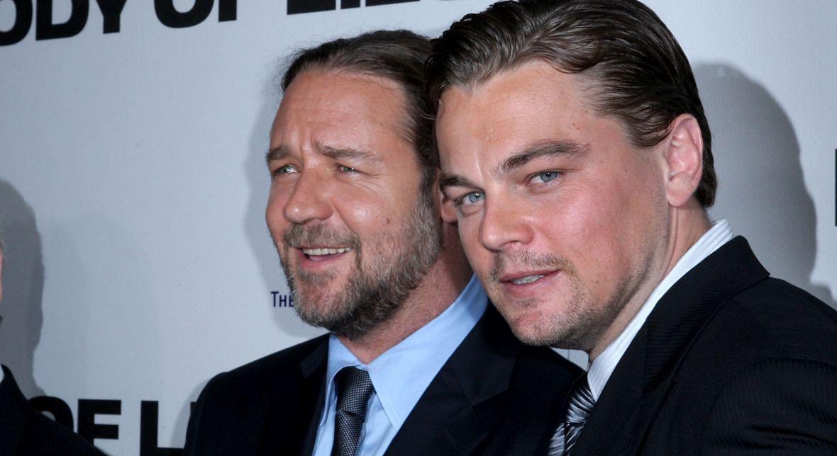 """Russel Crowe i Leonardo DiCaprio spotkali się na planie """"W sieci kłamstw"""""""