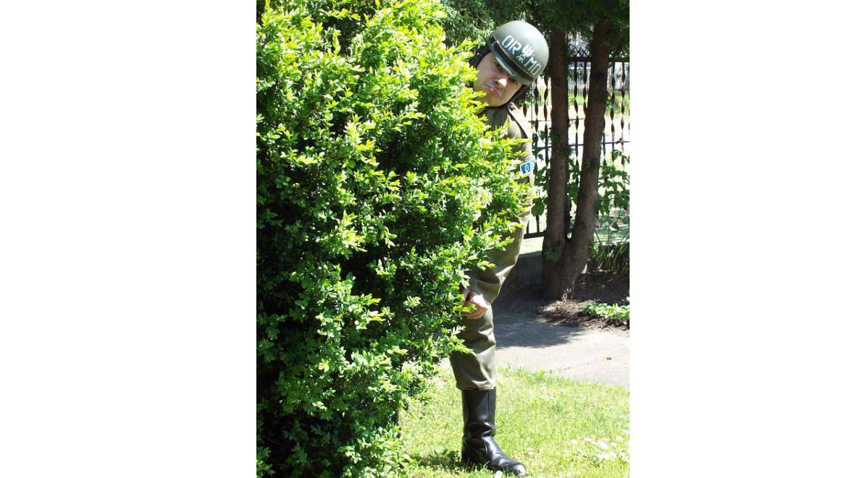 Tomasz w mundurze ORMO