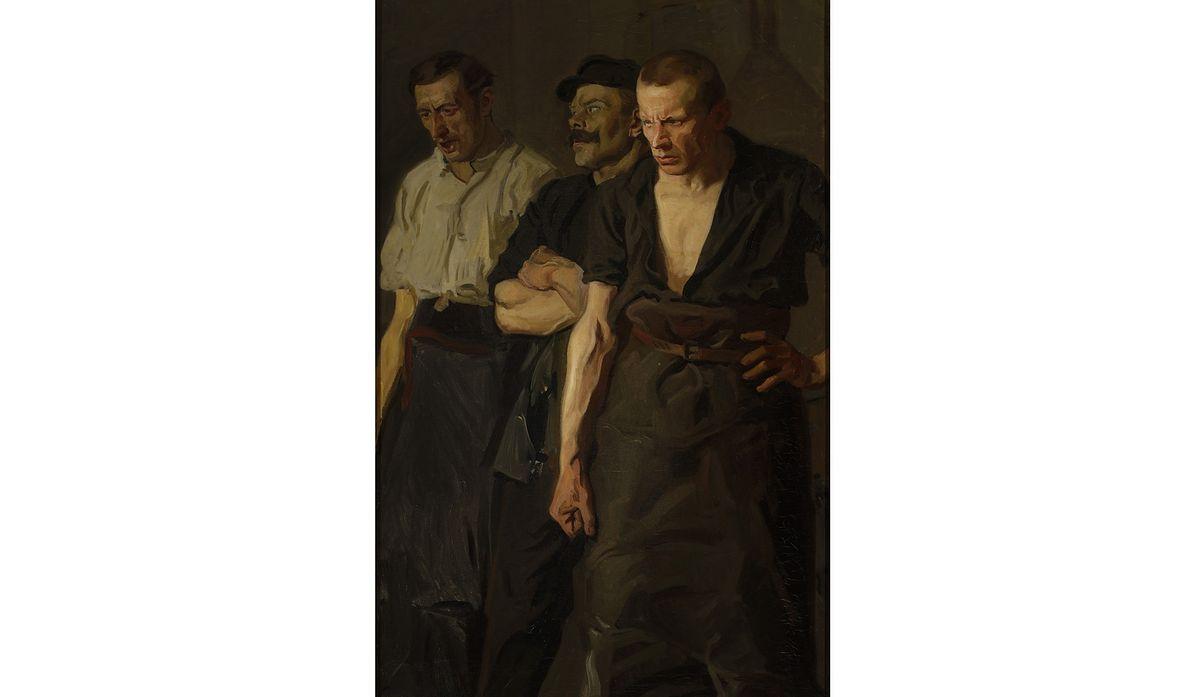 """""""Strajk"""" - obraz Stanisława Lentza z 1910 r."""