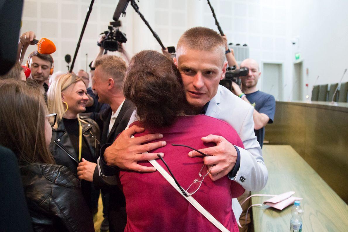 Tomasz Komenda w chwilę po usłyszeniu wyroku: niewinny