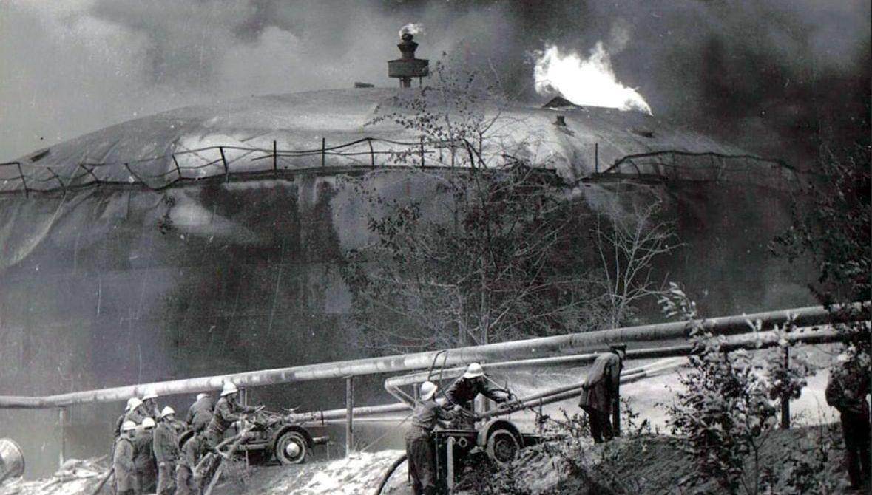 Akcja gaśnicza w rafinerii