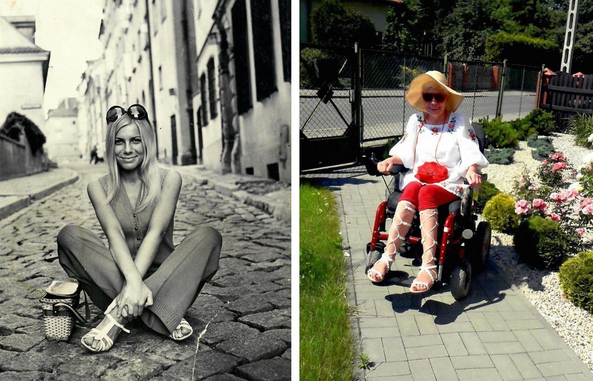 Jadwiga Kruk w latach 70. i dziś