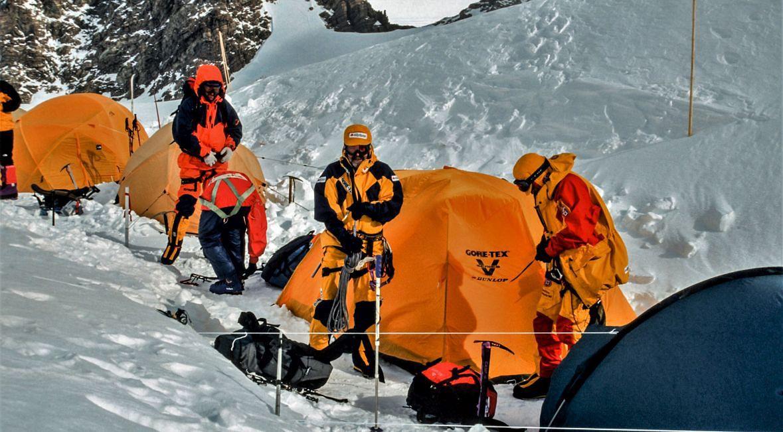 Marek Kamiński, Janusz Majer, Jacek Jezierski. Antarktyda, Mount Vinson, obóz I