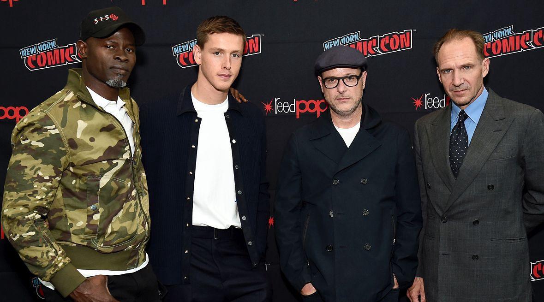 "Ekipa ""The Kings Man"": (od lewej) Djimon Hounsou, Harris Dickinson, Matthew Vaughn i Ralph Fiennes"