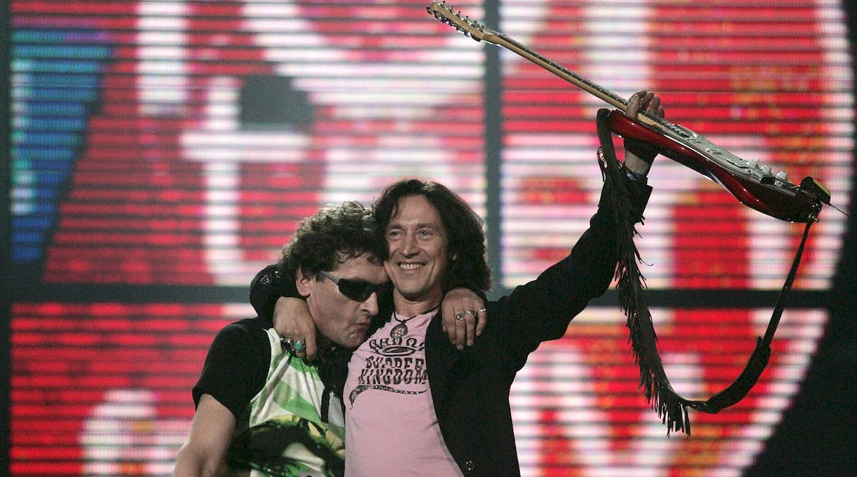 Janusz Panasewicz i Jan Borysewicz na festiwalu Top Trendy, Sopot 2005