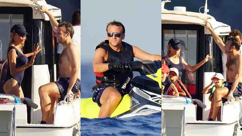 Laughing Brigitte And Emmanuel Macron Are Resting On The Yacht With Their Children Photos World Today News