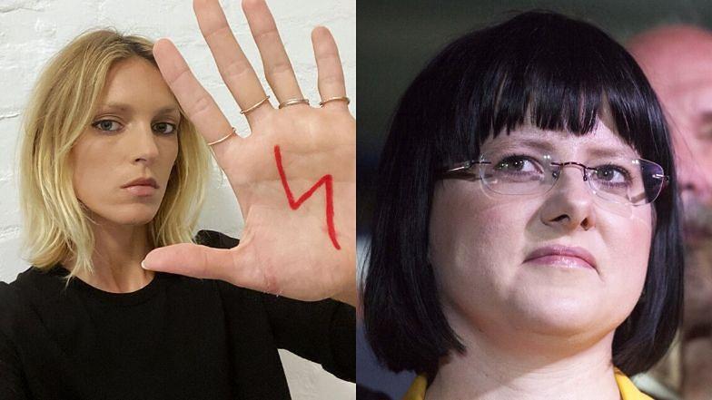 Zaangażowana Anja Rubik wspiera strajk przeciw ustawie ...
