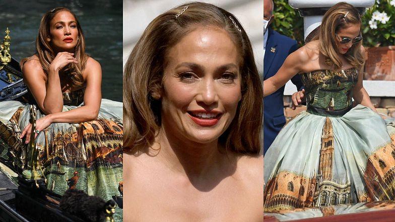 Jennifer Lopez works as a model posing for Dolce & Gabbana in a VENICE GONDOLA (PHOTOS) – Pudelek