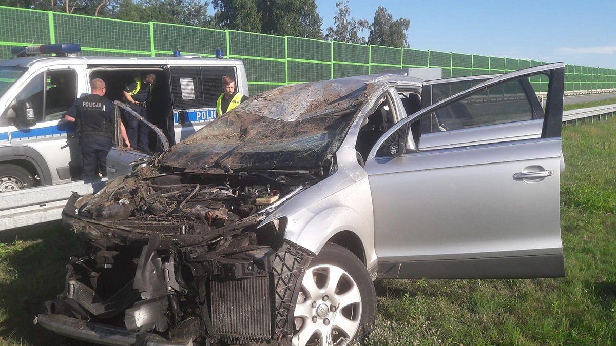 Śmiertelny wypadek na A1. Policja szuka sprawców, którzy uciekli