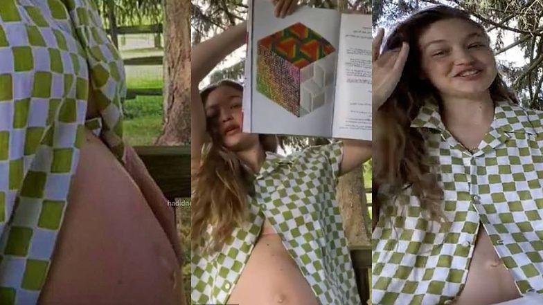 Naturalna Gigi Hadid eksponuje brzuch pierwszy raz od ogłoszenia ...