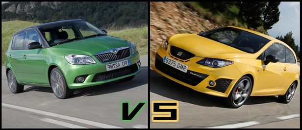 skoda fabia rs vs seat ibiza cupra co wybierasz. Black Bedroom Furniture Sets. Home Design Ideas