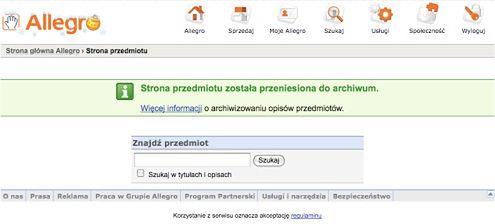 Jak Szybko Sprawdzic Aukcje Przeniesione Do Archiwum Allegro Gadzetomania Pl