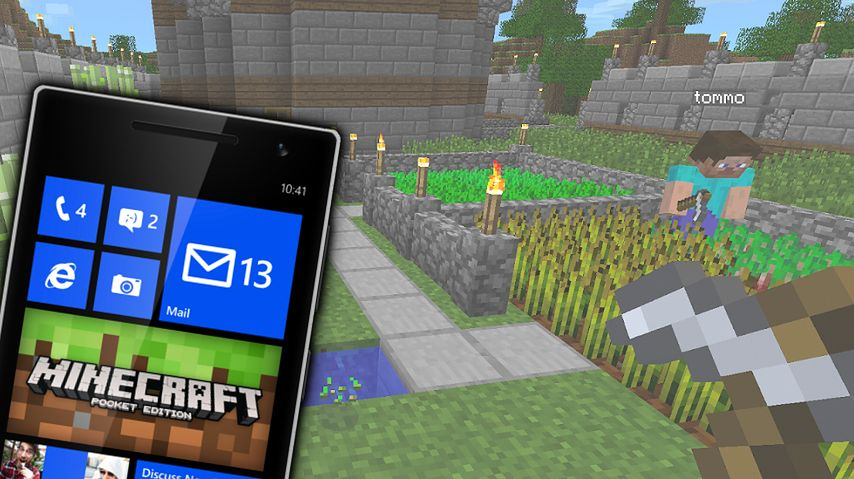 Minecraft - Pocket Edition - в мире майнкрафт