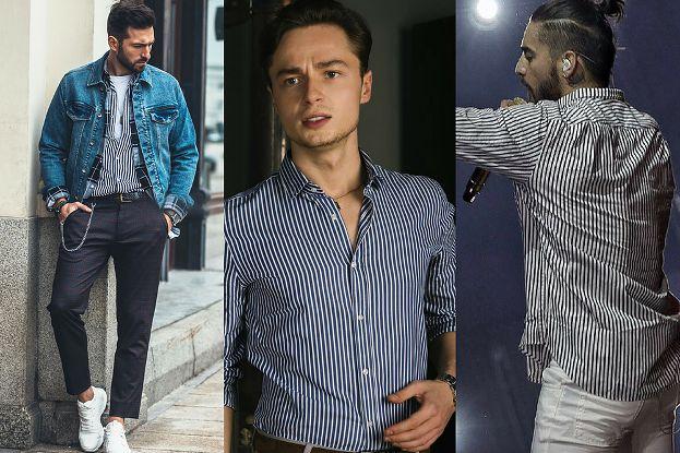 Koszule męskie w paski z czym je łączyć? Pudelek