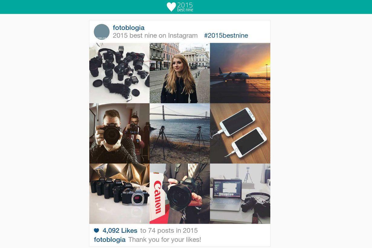 Zobacz 9 swoich najlepszych zdjęć na Instagramie w 2015 roku