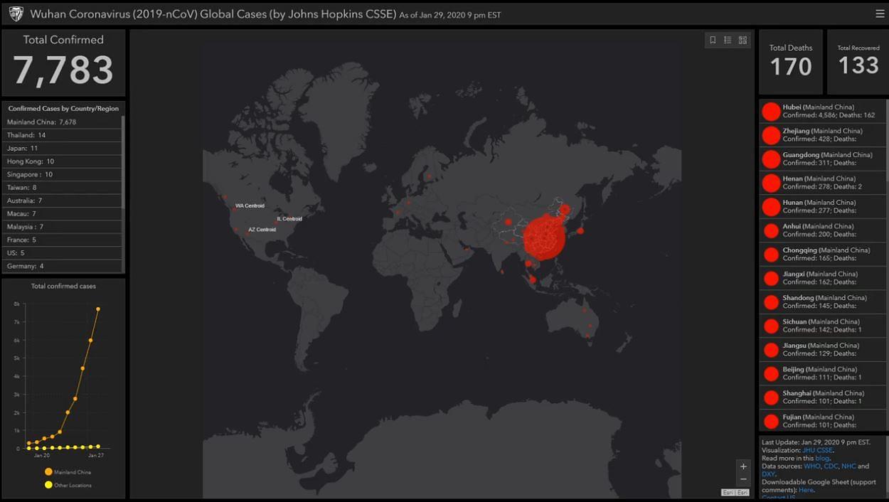 Koronawirus Z Chin Mapa Zagrozenia Wp Wiadomosci