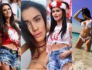 """Nowa """"miss mundialu"""" walczy o atencję na trybunach i Instagramie (ZDJĘCIA)"""