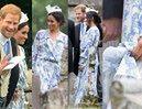 Modna księżna Meghan i pogodny Harry zachwycili na kolejnym królewskim ślubie (ZDJĘCIA)