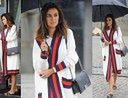 Smutna Natalia Siwiec spaceruje w deszczu w stylizacji za 32 TYSIĄCE ZŁOTYCH (ZDJĘCIA)