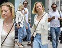 Lara Gessler z nosem na kwintę spaceruje z ukochanym po słonecznej Warszawie (ZDJĘCIA)