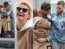 Zakochani Andrzej Wrona i Zofia Zborowska namiętnie całują się na lotnisku (ZDJĘCIA)