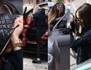Zasłonięta torebką Chanel Marina Łuczenko wsiada do swojego Bentleya (ZDJĘCIA)