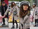 Odpicowana Natalia Siwiec z torebką Diora za 16 tysięcy na jesiennym spacerze z córką (ZDJĘCIA)