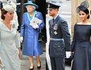 Królowa Elżbieta i para książęca Sussex świętują 100-lecie brytyjskich sił powietrznych (ZDJĘCIA)