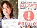 """Maja Ostaszewska wspiera strajk nauczycieli. Internauta: """"Jest coś, czego Pani nie popiera?"""""""